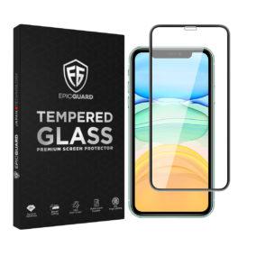 Folie Sticla EpicGuard Apple iPhone XS Max Protectie Premium 3D FULL NEGRU