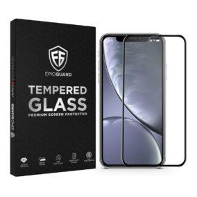 Folie Sticla EpicGuard Apple iPhone XR Protectie Premium Ecran 3D, Full Cover, Negru