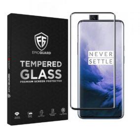 Folie Sticla EpicGuard OnePlus 7T Pro Protectie Premium Ecran 3D, Full Cover, Negru