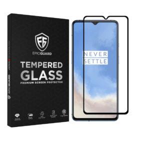 Folie Sticla EpicGuard OnePlus 7T Protectie Premium Ecran 3D, Full Cover, Negru